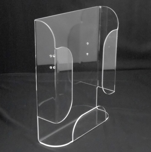 Bent acrylic pamphlet holder