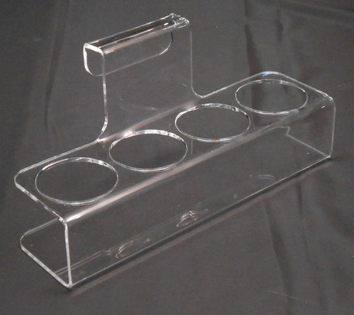 Bent acrylic cup holder